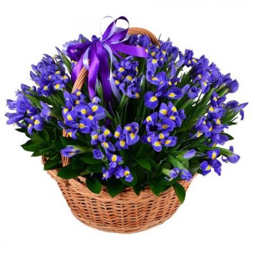 Корзина цветов Небесное сияние