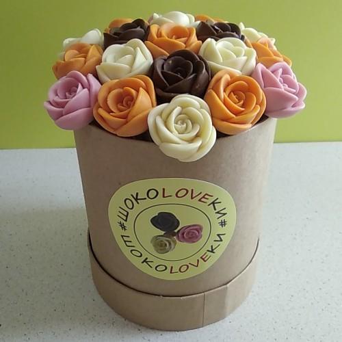 Розы шоколадные маленькие 19 шт