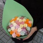 Шоколадные розы в букете 37 шт 01