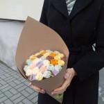 Шоколадные розы в букете 37 шт 02