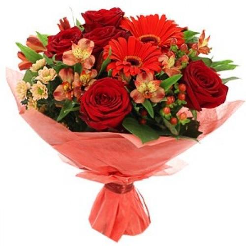 букеты для невест из красных роз фото