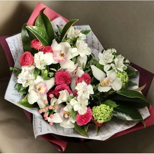 """Букет  """"Белая орхидея"""""""