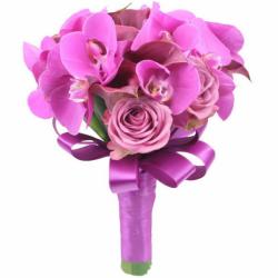 Букеты для невест с орхидеями